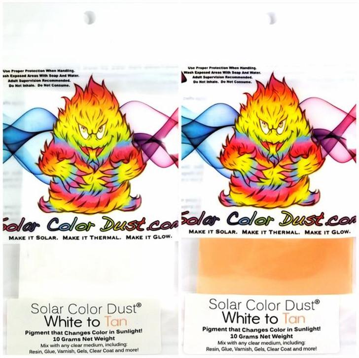 SolarColorDust® - White to Tan - Sunlight Sensitive