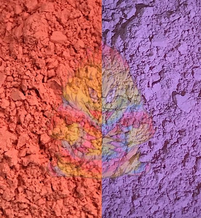 SolarColorDust® - Coral to Blue- Sunlight Sensitive
