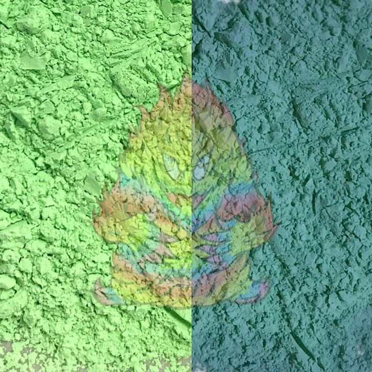 SolarColorDust® - Green to Blue- Sunlight Sensitive