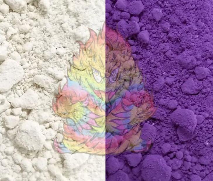 SolarColorDust® - White to Violet - Sunlight Sensitive