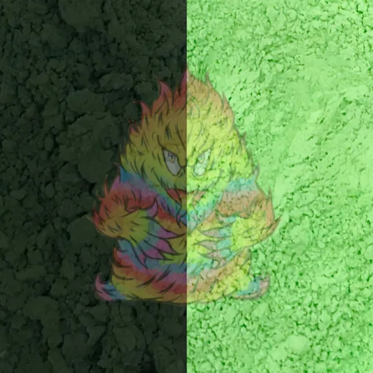 Black to Green Thermochromic Heat Activated Color Change Pigment