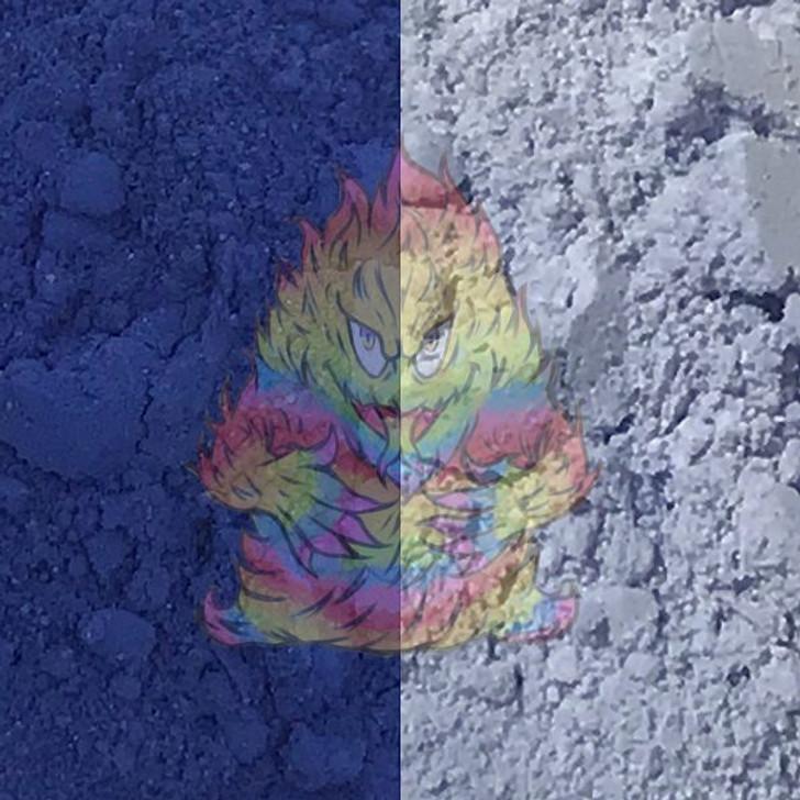 Paint pigment, thermochromic, color change, heat sensitive, blue pigment