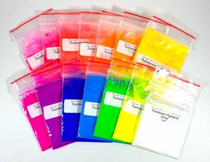 Bright Fluorescent pigments