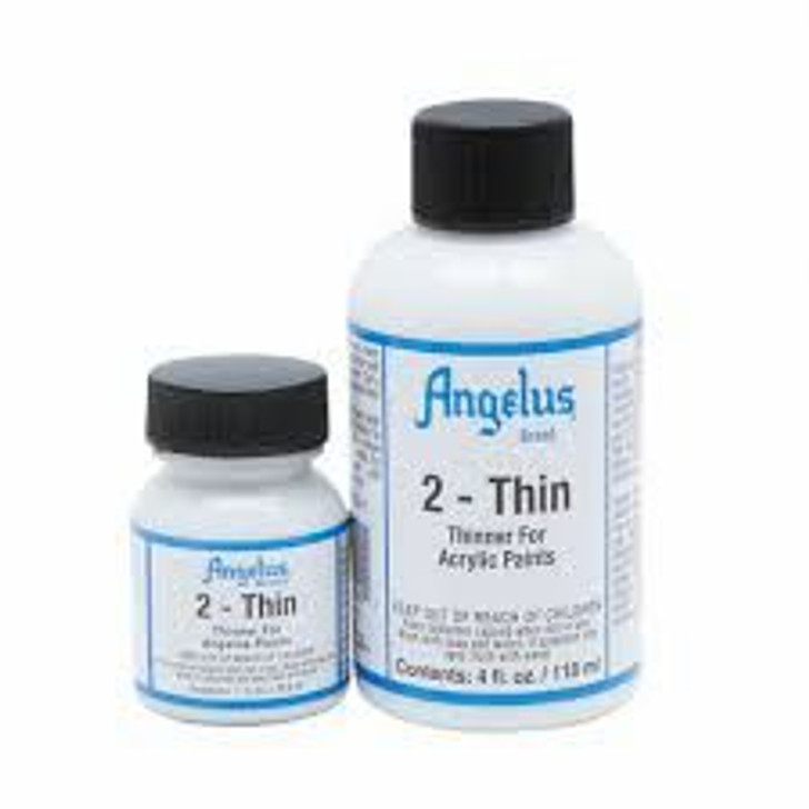 Angelus 2-thin, keeps paint from clumping, works with airbrushes