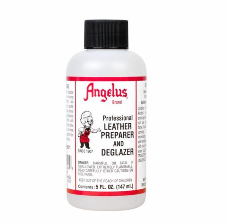 Angelus leather preparer,  shoe cleaner, breaks down original finish