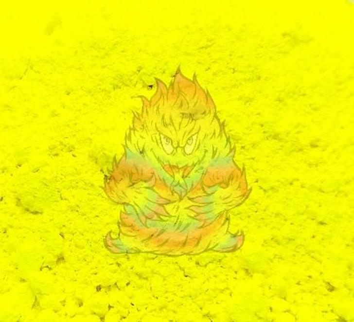 Fluorescent Yellow pigment