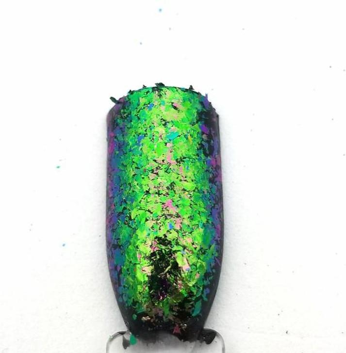 Super Chameleon Flakes - Grey/Green/Dark Purple