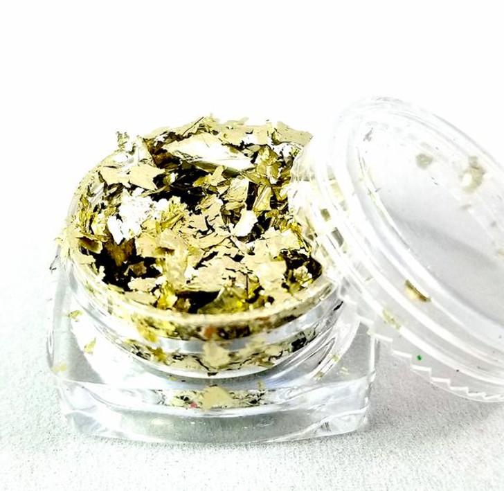 Metallic Flakes - White Gold