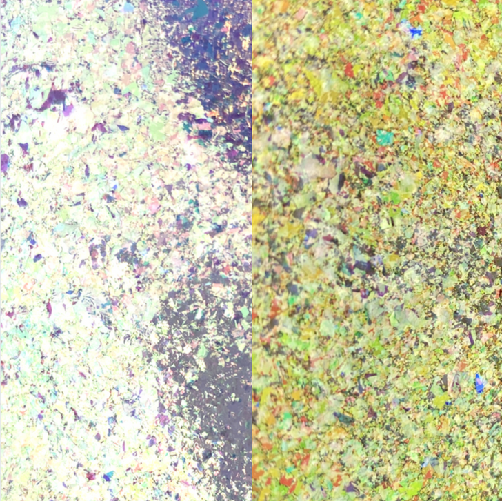 Golden Silver-Blue Iridescent Chroma Flakes  - Iridescent chroma flakes shifting multi-colored flakes for resin art, nail art, tumblers, and more - SolarColorDust.com