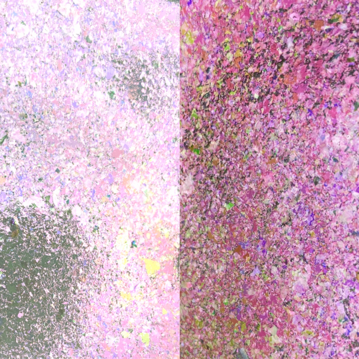 Purple Yellow-Green Iridescent Chroma Flakes  - Iridescent chroma flakes shifting multi-colored flakes for resin art, nail art, tumblers, and more - SolarColorDust.com