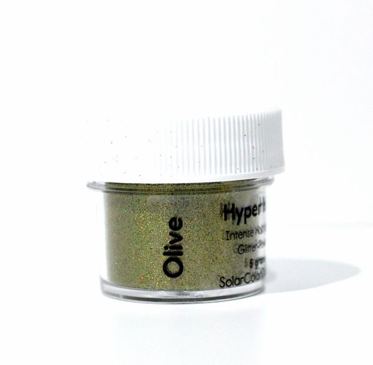 SolarColorDust.com Hyper Holo® Intense Holographic Glitter-Powder - Olive Green Holographic Powder for Resin, Tumblers, Nail Art, and More!