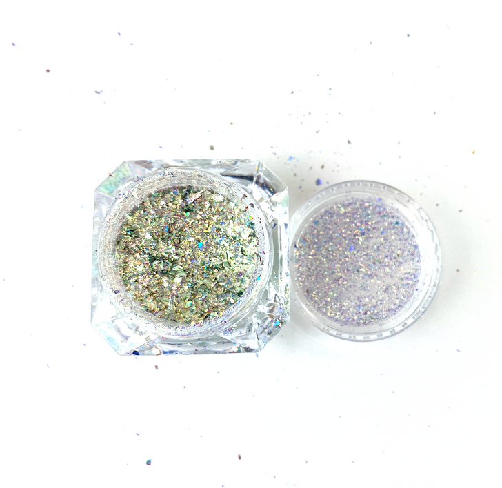 SolarColorDust.com Aurora Holographic Flakes - Bootes - Iridescent Holographic Flakes for Resin, Tumblers, Nail Art, Art & Crafts, and More!
