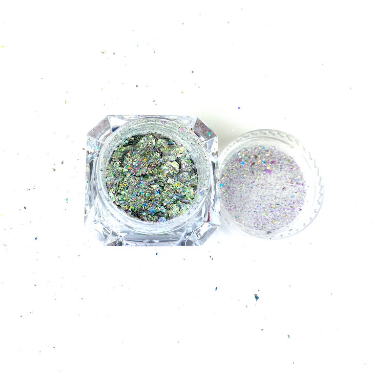 SolarColorDust.com Aurora Holographic Flakes - Corvus - Iridescent Holographic Flakes for Resin, Tumblers, Nail Art, Art & Crafts, and More!