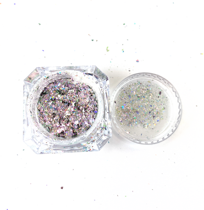 SolarColorDust.com Aurora Holographic Flakes - Equuleus - Iridescent Holographic Flakes for Resin, Tumblers, Nail Art, Art & Crafts, and More!