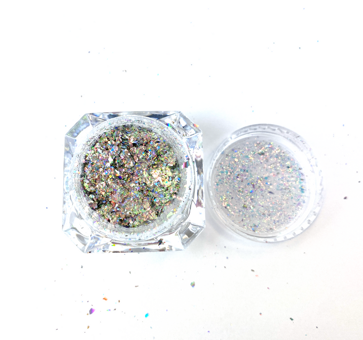 SolarColorDust.com Aurora Holographic Flakes - Gemini - Iridescent Holographic Flakes for Resin, Tumblers, Nail Art, Art & Crafts, and More!