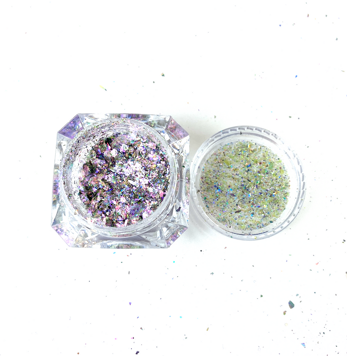 SolarColorDust.com Aurora Holographic Flakes - Lyra - Iridescent Holographic Flakes for Resin, Tumblers, Nail Art, Art & Crafts, and More!