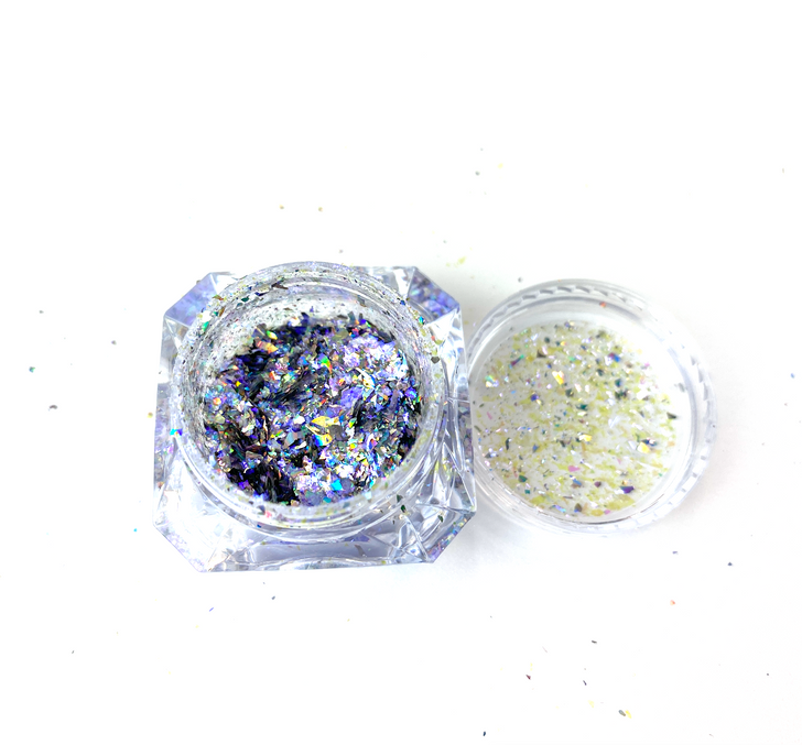 SolarColorDust.com Aurora Holographic Flakes - Octans - Iridescent Holographic Flakes for Resin, Tumblers, Nail Art, Art & Crafts, and More!