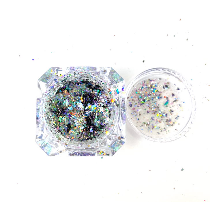 SolarColorDust.com Aurora Holographic Flakes - Orion - Iridescent Holographic Flakes for Resin, Tumblers, Nail Art, Art & Crafts, and More!