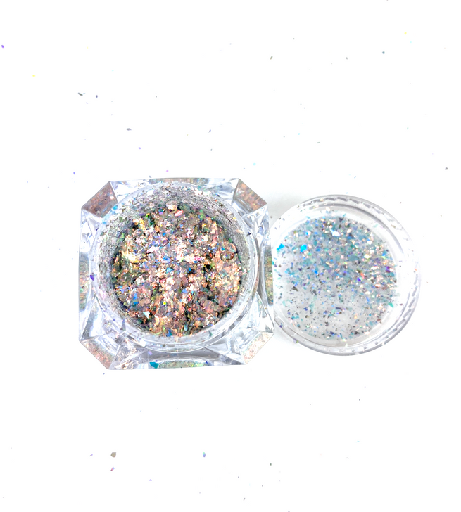 SolarColorDust.com Aurora Holographic Flakes - Pyxis - Iridescent Holographic Flakes for Resin, Tumblers, Nail Art, Art & Crafts, and More!