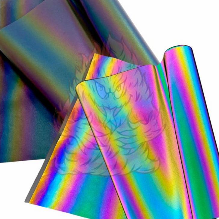 Rainbow Reflective Fabric, Polyester/Cotton Blend, TC Fabric