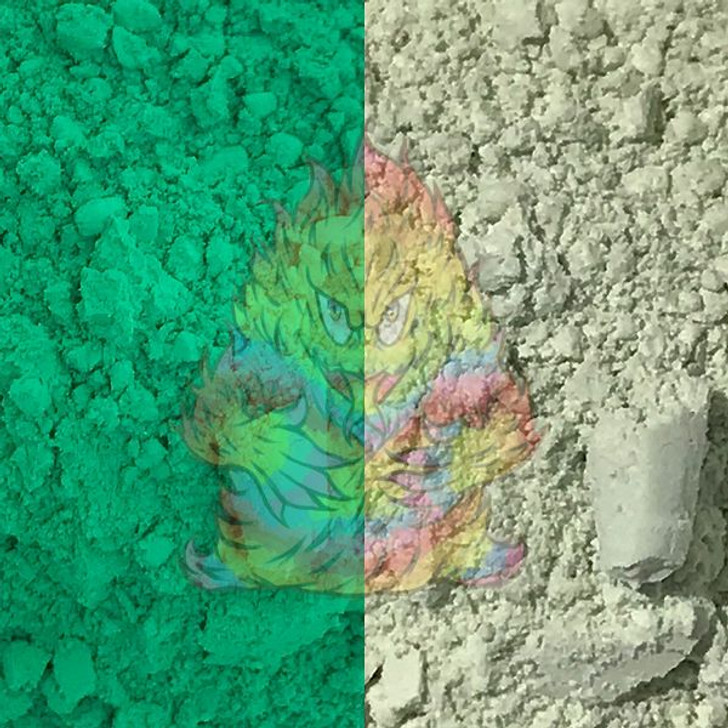 thermochromic, color change, bright green, green pigment, heat sensitive, thermal dust