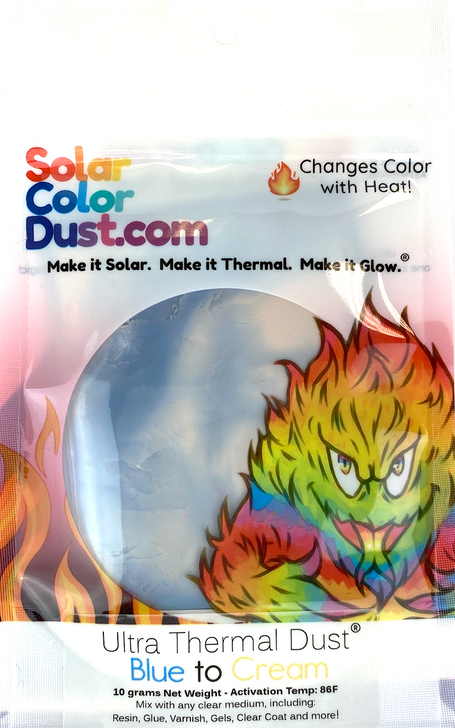 Blue to Cream Thermochromic Heat Sensitive Color Changing Pigment
