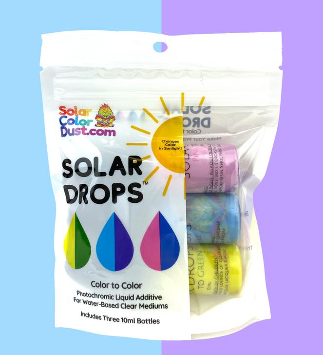 SolarColorDust.com Solar Drops™ Photochromic Liquid Additive UV Sunlight Color Changing Slurry Color to Color