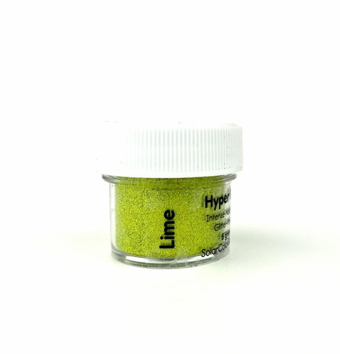 SolarColorDust.com Hyper Holo® Intense Holographic Glitter-Powder - Lime Green - Holographic Powder for Resin, Tumblers, Nail Art, and More!