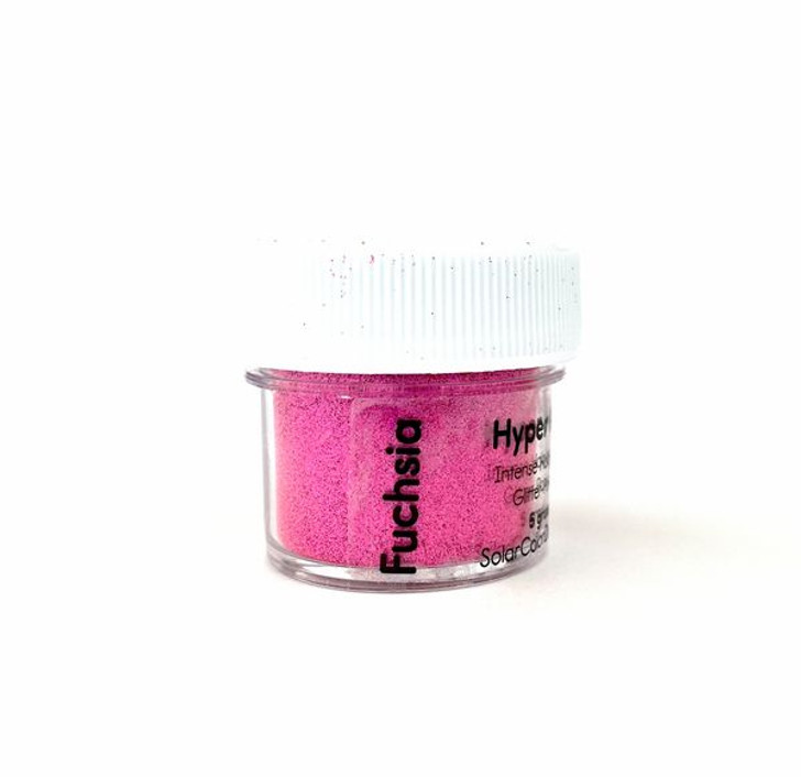 SolarColorDust.com Hyper Holo® Intense Holographic Glitter-Powder - Fuchsia - Hot Pink Holographic Powder for Resin, Tumblers, Nail Art, and More!