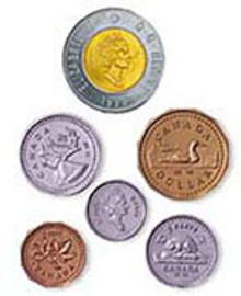 Canadian Plastic Coin Set