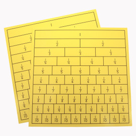 Laminated Fraction Chart
