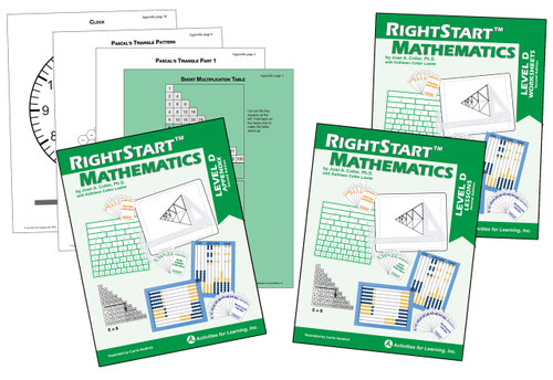RightStart™ Mathematics Level D Second Edition Book Bundle