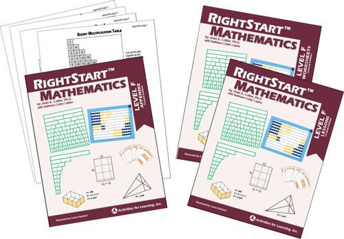 RightStart™Mathematics Level F Second Edition Book Bundle