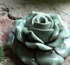 Flower Incense Holder | Small Celadon Rose | H20201372