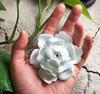 Flower Incense Holder | Small White Lotus | H20201374