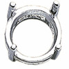 925 Sterling silver 12mm Round Pre-Notched Legendary Setting, 4-Prong   910099