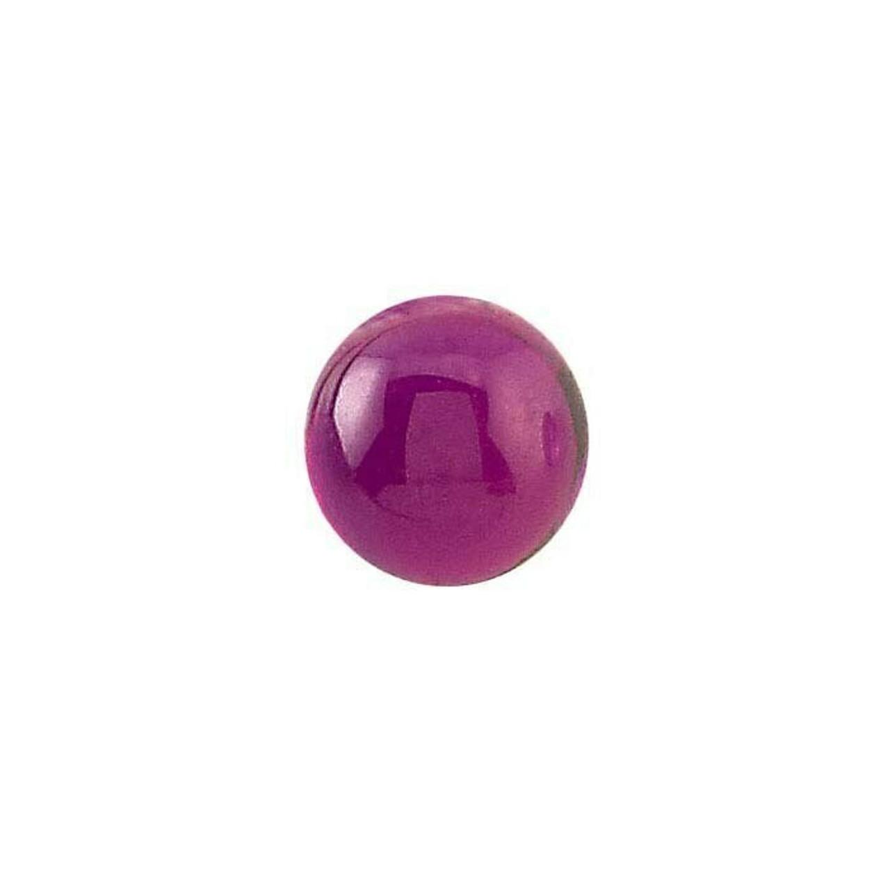 Lab Created Ruby 4mm Round Cabochon   90205 - Yu Yo The