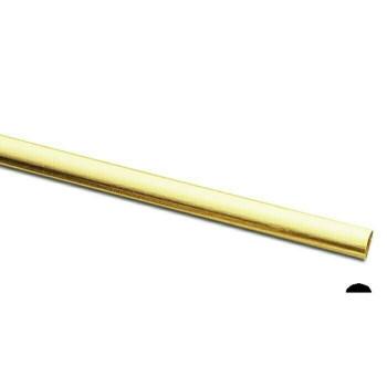 Jeweler's brass/NuGold Half-Round Wire, 12Ga (2x1mm) Sold By ft   130456F  Bulk Prc Avlb