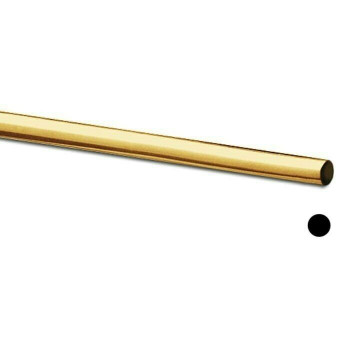 Jeweler's Brass/NuGold Round Wire, 18Ga (1mm)  Sold By ft  130318F  Bulk Prc Av