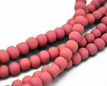 Synthetic Pink Milk Ball 8mm Sold By  40cm/Strand | BSPMB8