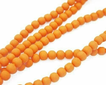 Synthetic Shining Orange Ball 8mm Sold By  40cm/Strand | BSSOB8