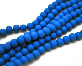 Synthetic Sky Blue Ball 8mm Sold By  40cm/Strand | BSSBB8