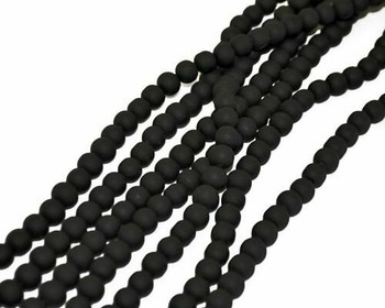 Synthetic Black Ball 8mm Sold By  40cm/Strand | BSBKB8