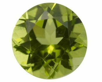 Machine-Cut 3.5mm Peridot Faceted Stone, AA-Grade, Sold By each | 90035