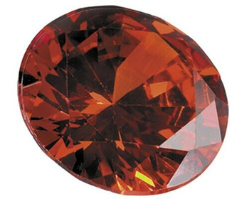 Lab-Created Round 4mm Orange CZ Faceted Stone, Sold By each | 69143