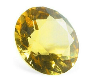 Machine-Cut 3mm Citrine Faceted Stone, AA-Grade, Sold By each | 90016