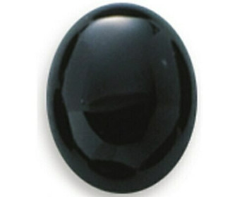 Oval 9 x 7mm Black Onyx Cabochon Stone, Sold By Each | 87958