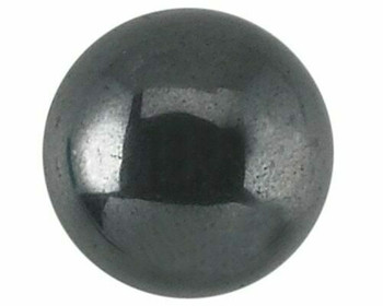 Round 8mm Hematite Cabochon Stone, Sold By Each | 85125