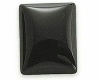Rectangle 12 x 10mm Black Onyx Cabochon Stone, Sold By each | 67929