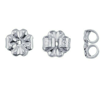 Sterling Silver Friction Ear Nut | 5mm | Medium-Weight | Sold By 2pc | 630020 |Bulk Prc Avlb